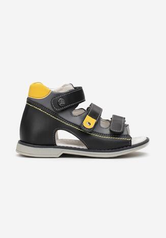 Czarne Sandały Bastophe