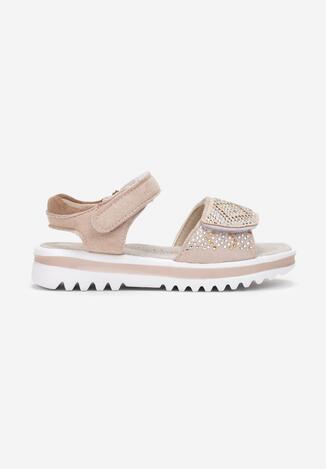 Jasnoróżowe Sandały Maricia