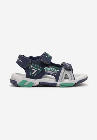 Granatowo-Zielone Sandały Maryrope