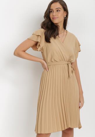 Ciemnobeżowa Sukienka Theleithe