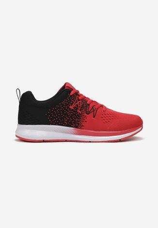 Czerwono-Czarne Buty Sportowe Soterelaus