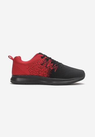 Czarno-Czerwone Buty Sportowe Soterelaus
