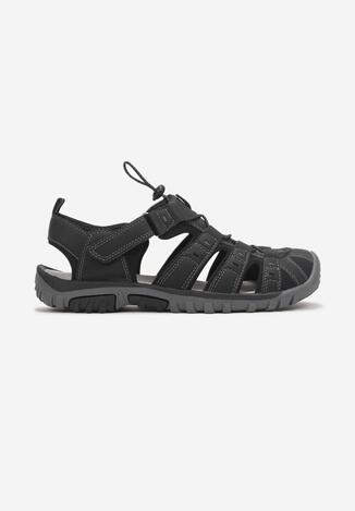 Czarne Sandały Siera