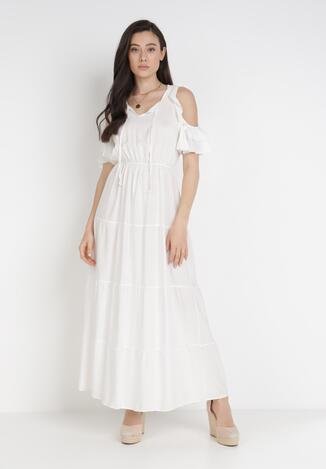 Biała Sukienka Tharasixi