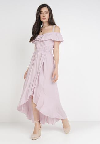 Liliowa Sukienka Phlegistos