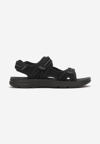 Czarne Sandały Riscuse