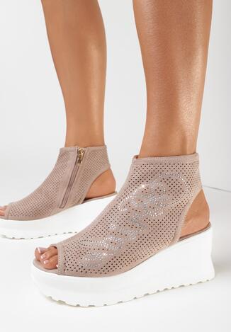 Beżowe Sandały Ephelenia