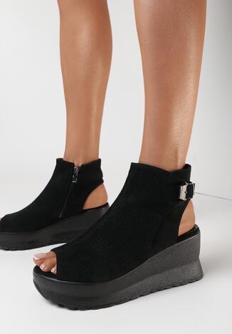 Czarne Sandały Loraeleh