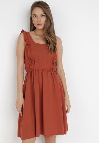 Brązowa Sukienka Marinelle