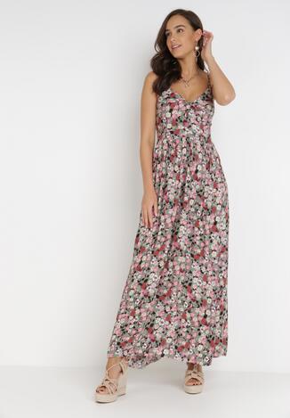 Miętowo-Różowa Sukienka Deloras