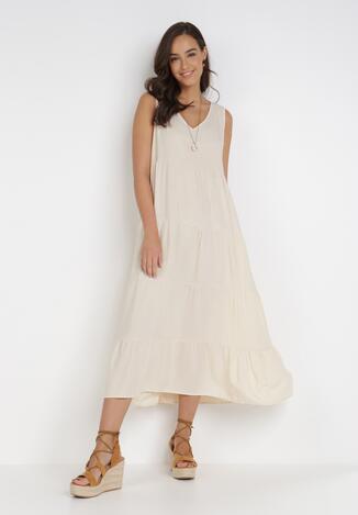 Kremowa Sukienka Doreasana