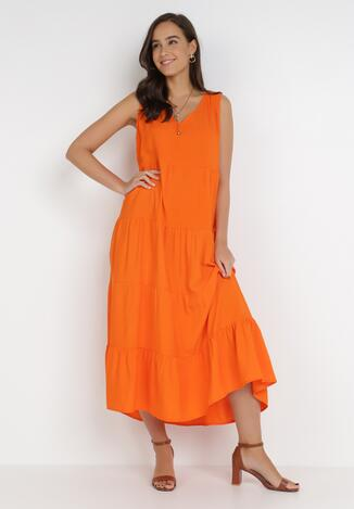 Pomarańczowa Sukienka Doreasana