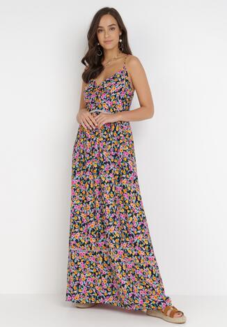 Granatowa Sukienka Radava