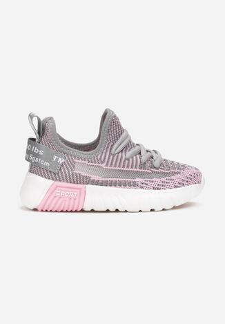Szaro-Różowe Buty Sportowe Helu