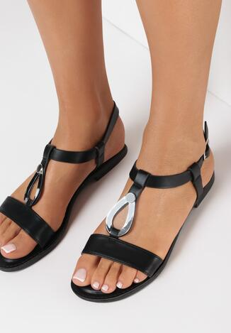 Czarne Sandały Revo