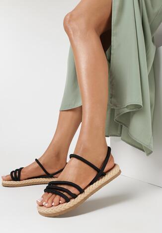 Czarne Sandały Mellociane