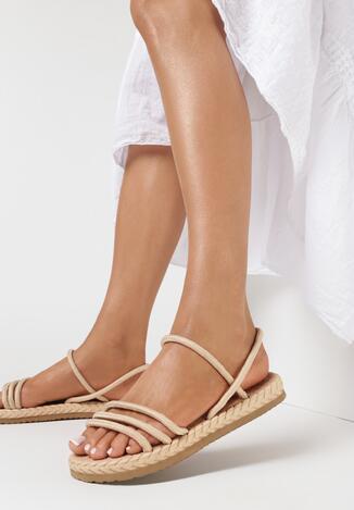 Beżowe Sandały Mellociane
