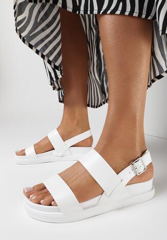 Białe Sandały Nesaleora