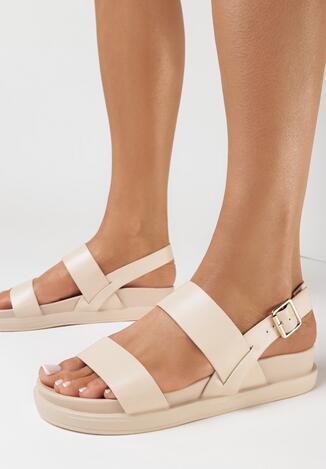 Beżowe Sandały Nesaleora
