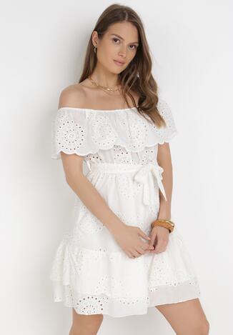 Biała Sukienka Adrealody