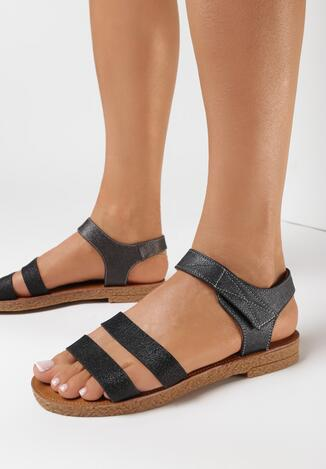 Czarne Sandały Asinope