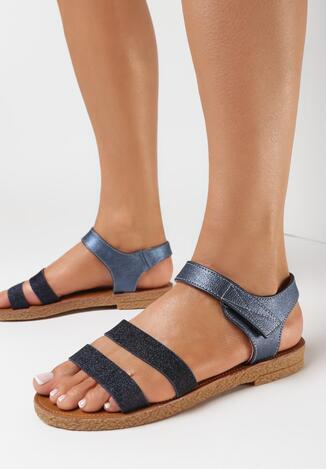 Granatowe Sandały Asinope