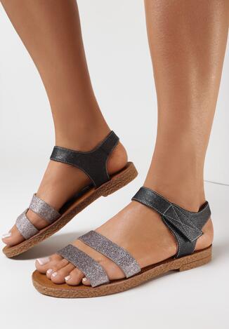 Srebrne Sandały Asinope