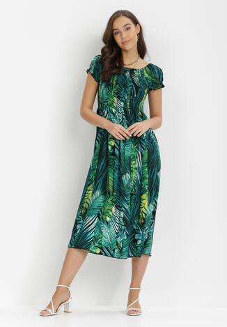 Czarno-Zielona Sukienka Aeleophite