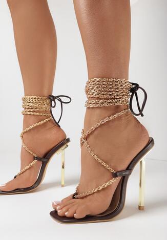 Brązowe Sandały Ilerope