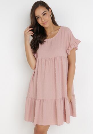 Różowa Sukienka Anicea