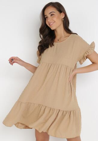 Beżowa Sukienka Anicea