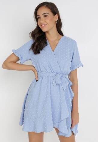Niebieska Sukienka Synaxera