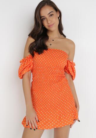 Pomarańczowa Sukienka Sabriliphis