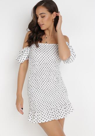 Biała Sukienka Sabriliphis