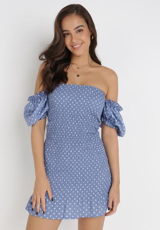 Niebieska Sukienka Sabriliphis