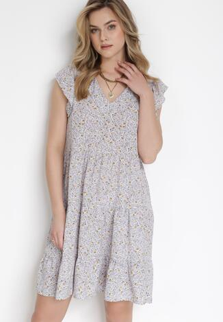 Liliowa Sukienka Orinilla