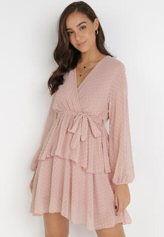 Różowa Sukienka Sharpblaze
