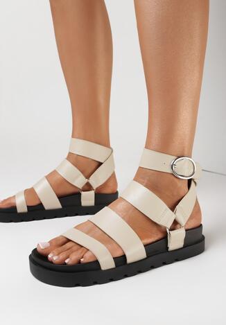 Beżowe Sandały Mathedice