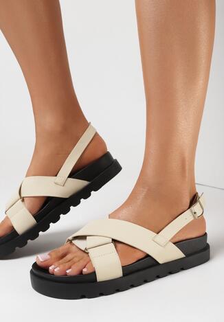 Beżowe Sandały Nysahria