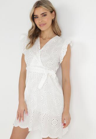 Biała Sukienka Telephei