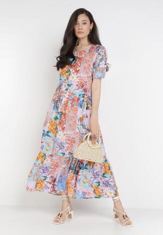 Liliowa Sukienka Laomemoni