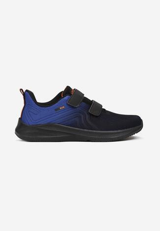 Czarno-Niebieskie Buty Sportowe Qyrysh