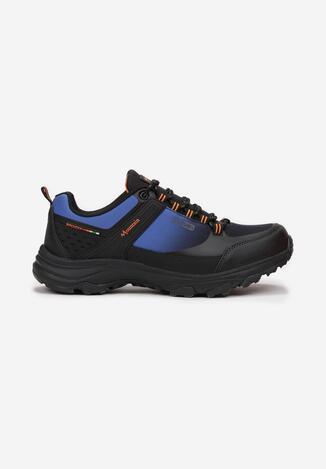 Czarno-Niebieskie Buty Trekkingowe Aeztora