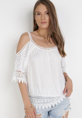 Biała Bluzka Usinrahne