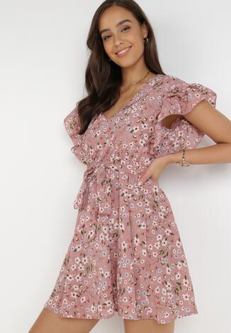 Różowa Sukienka Dioete
