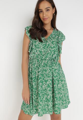 Zielona Sukienka Neamelia