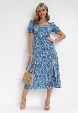 Niebieska Sukienka Aquineva