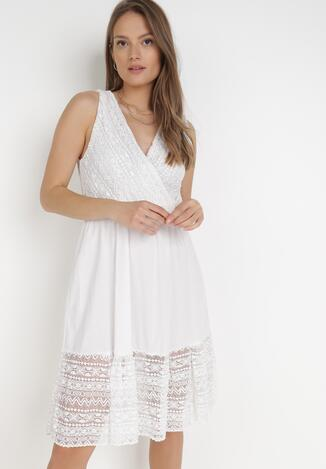 Biała Sukienka Galixisa