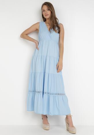 Niebieska Sukienka Kaphixie