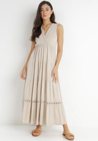 Beżowa Sukienka Kaphixie